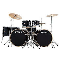 Tama Imperialstar IE72ZH8W-HBK Double Bass Drum Kit Hairline Black « Batterie acoustique