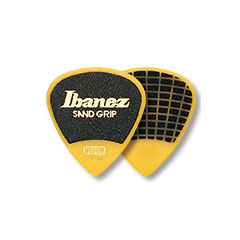 Ibanez Flat Pick PPA16HSG-YE Sand Grip White 1 mm Yellow « Médiators