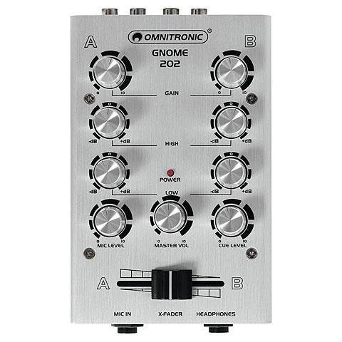 Mesa de mezclas DJ Omnitronic GNOME-202 Mini-Mixer silver