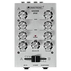 Omnitronic GNOME-202 Mini-Mixer silver « Console de mixage DJ