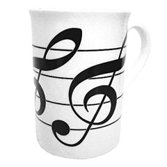 The Music Gifts Company Treble Clefs Mug « Coffee Cup