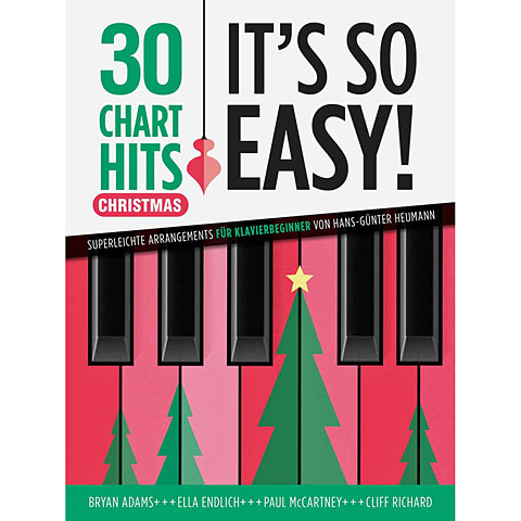 Recueil de Partitions Bosworth It's So Easy 30 Charts Hits Christmas