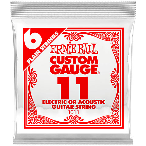Saiten E-Gitarre Ernie Ball 011 Single Slinky String Set