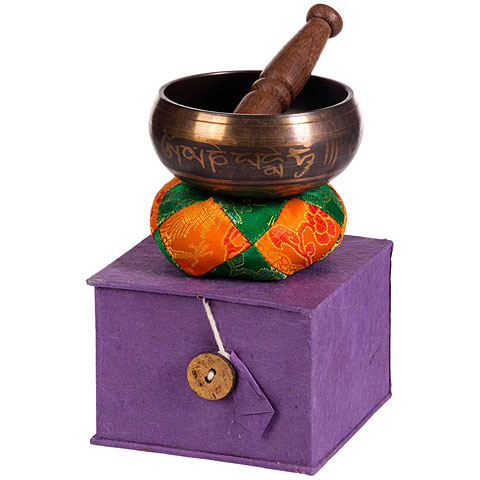 Klangschale Afroton Ø 9,5 cm ornamental Singing Bowl Set