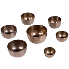 Afroton Cast 7 Pcs. Singing Bowl Chakra Set « Bol sonore