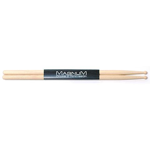 Baquetas para batería Magnum US-Hickory 7A Round Wood Tip