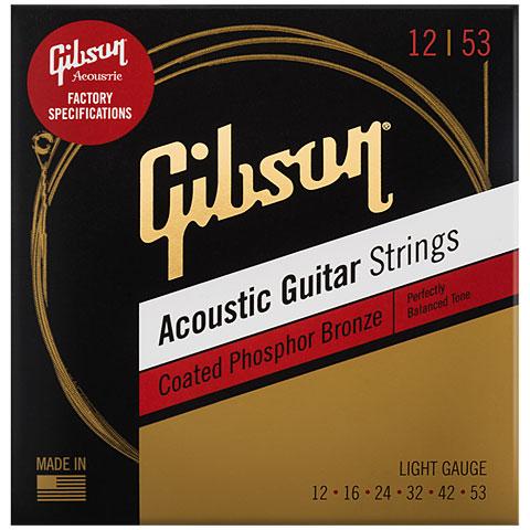 Corde guitare folk Gibson SAG-CPB12 Phosphor Bronze coated, 012-053
