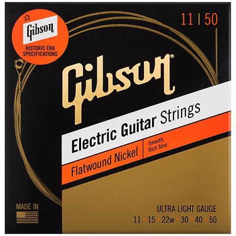 Saiten E-Gitarre Gibson SEG-FW11, UL 011-050, Flatwound