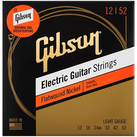 Saiten E-Gitarre Gibson SEG-FW12, L 012-052, Flatwound