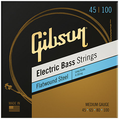 Electric Bass Strings Gibson FWSL12 045-100 Long Scale Flatwound