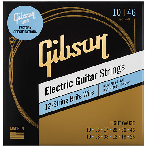 Electric Guitar Strings Gibson BW12L 010-046 12 String Brite Wires