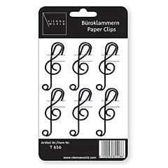 Vienna World Paper Clips - Treble Clef (Pack of 6) « Gifts