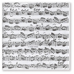 Vienna World Paper Napkins - Sheet Music « Geschenkartikel