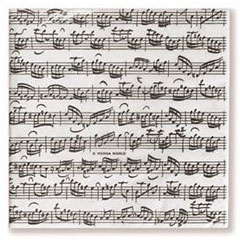 Vienna World Paper Napkins - Sheet Music II « Article cadeau