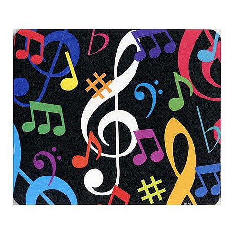 Mousepad AIM Gifts Mouse Mat - Multicolour Musical Notes