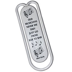 AIM Gifts Giant Clips - Old Musicians Never Die « Geschenkartikel