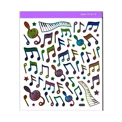 Aufkleber AIM Gifts Rainbow Notes Stickers