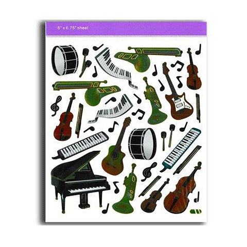 Adhesivos AIM Gifts Keyboard/Instruments Stickers