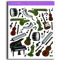 AIM Gifts Keyboard/Instruments Stickers