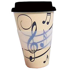 Little Snoring Travel Mug - Music Notes « Kaffeetasse
