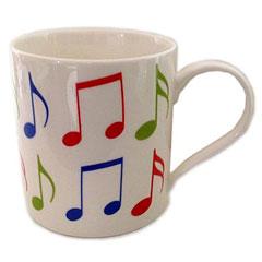 Little Snoring Fine China Mug - Allegro - Music Notes « Tazas