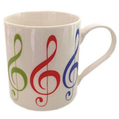 Little Snoring Fine China Mug - Allegro - Treble Clef