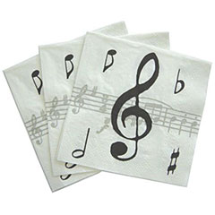 The Music Gifts Company Music Notes Napkins « Article cadeau