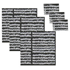The Music Gifts Company Wrap Pack Manuscript - Black « Gifts
