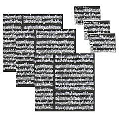 The Music Gifts Company Wrap Pack Manuscript - Black « Article cadeau