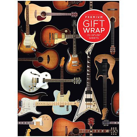 Article cadeau Hal Leonard Gift Wrap - Guitar Collage Design