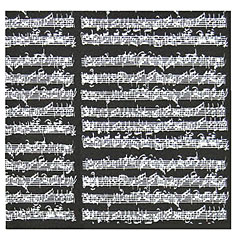 The Music Gifts Company Wrap Sheet Manuscript - Black « Gifts