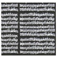 The Music Gifts Company Wrap Sheet Manuscript - Black « Article cadeau