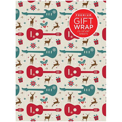Article cadeau Hal Leonard Wrapping Paper - Guitars & Reindeer Theme