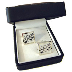 The Music Gifts Company Cufflinks - Square Music