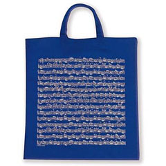 Vienna World Tote Bags - Sheet Music Blue « Gifts
