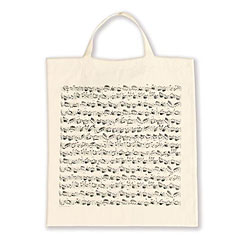 Vienna World Tote Bags - Sheet Music White « Gifts