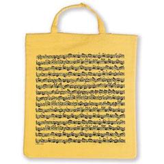 Vienna World Tote Bags - Sheet Music Yellow « Kadoartiekelen