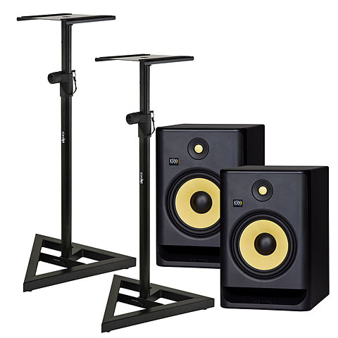 Enceintes actives KRK Rokit 8 G4 Stand Bundle