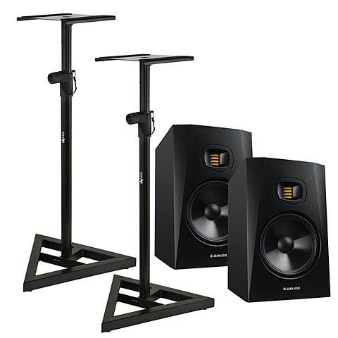 Active Monitor Adam Audio T8V Stand Bundle