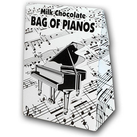 Gifts Gwynedd Confectioners Belgian Milk Chocolate Bag Of Pianos - 100g