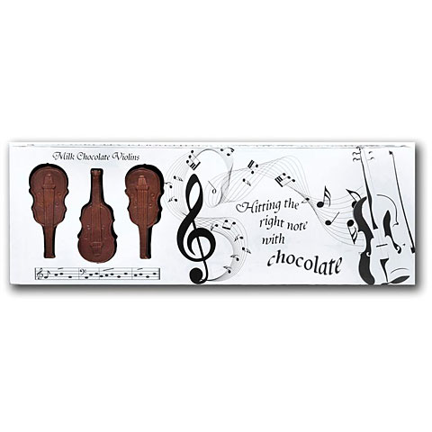 Artículos de regalo Gwynedd Confectioners Belgian Milk Chocolate Box Of Violins - 100 gr