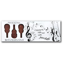 Gwynedd Confectioners Belgian Milk Chocolate Box Of Violins - 100 gr
