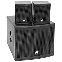 Omnitronic MOLLY-12A + 2 x MOLLY-6 « Active PA-Speakers