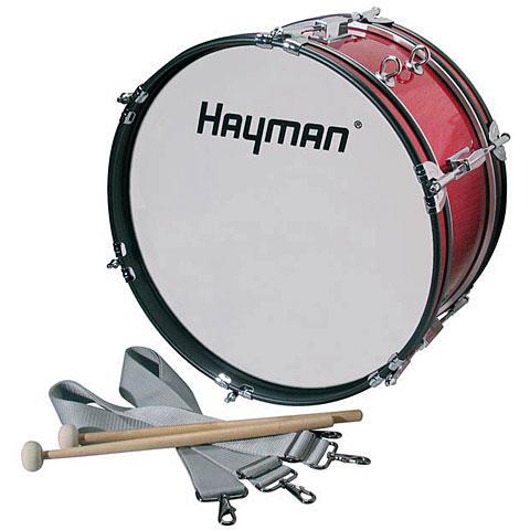 "Grosse caisse fanfare Hayman 16"" Red Junior Marching Bass Drum"