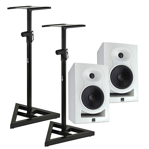 Aktiv-Monitor Kali Audio LP-6 Limited White Edition Stand Bundle