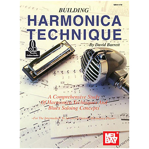 Libros didácticos MelBay Building Harmonica Technique Book