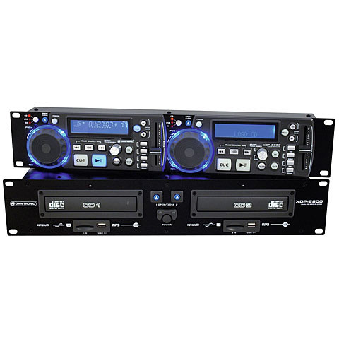 Reproductor CD Omnitronic XDP-2800 Dual-CD-/MP3-Player