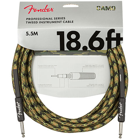 Instrument Cable Fender Pro Series Woodland Camo 5,5 m