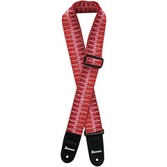 Ibanez GSB-50-C6 Braided Guitar Strap Red « Correas guitarra/bajo