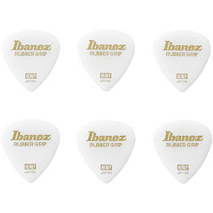 Ibanez Flat Pick Rubber Grip White 1 mm « Médiators
